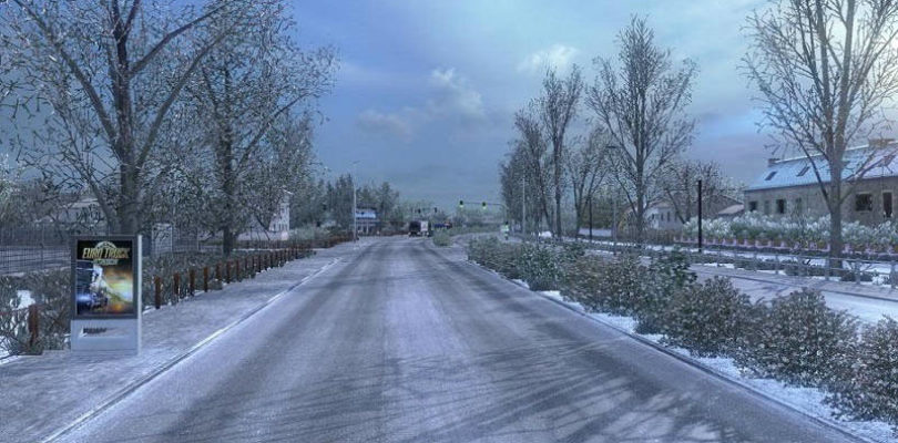 Мод Frosty Winter Weather v6.3 для ETS 2